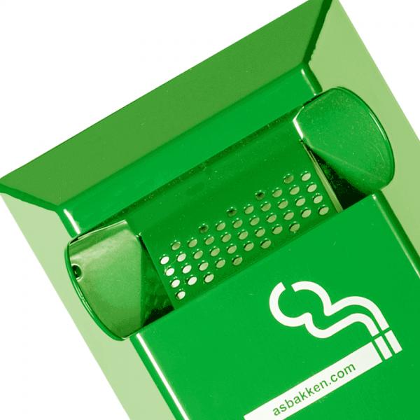 staande asbak groen ral 6018 detail