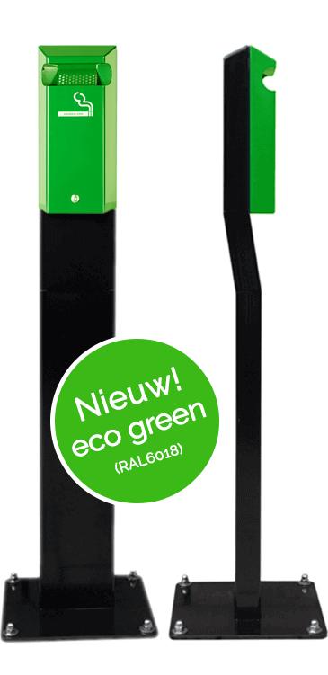 staande asbak groen ral 6018